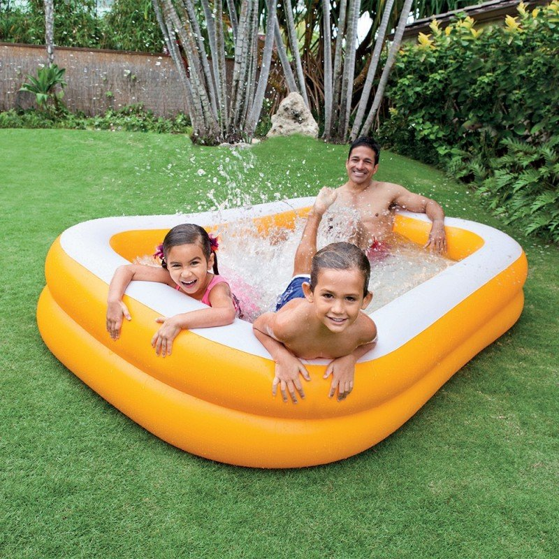 Alberca Inflable Swim Center Anaranjada