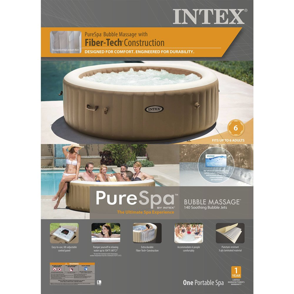 Tina de Hidromasaje Bubble Massage para 6 Personas PureSpa™