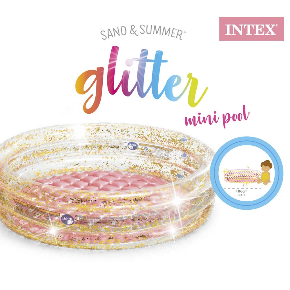 Alberca Inflable de Glitter para Bebé