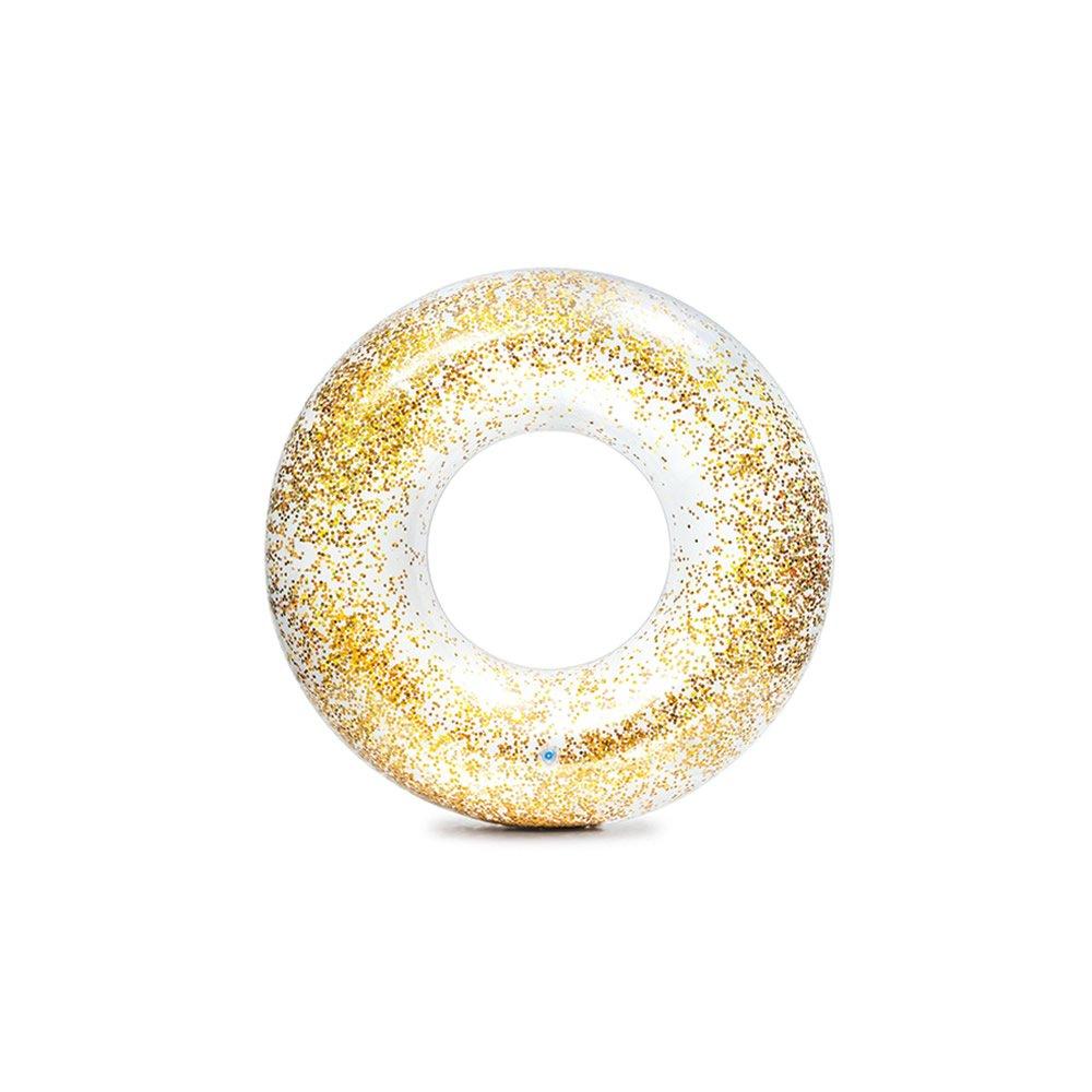 Salvavidas Inflable de Glitter Dorado