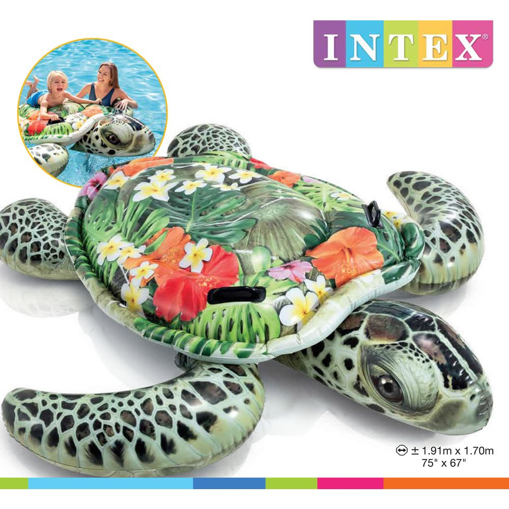 Montable Inflable de Tortuga Marina Floral